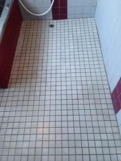 きれいになった浴室の床面